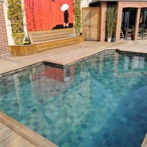 Rénovation d'une piscine carrelée, secteur Fiquefleur-Equainville Honfleur